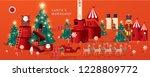 santa's workshop   christmas... | Shutterstock .eps vector #1228809772