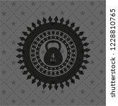 4kg kettlebell icon inside dark ... | Shutterstock .eps vector #1228810765