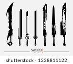 swords set. sword isolated on... | Shutterstock .eps vector #1228811122