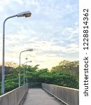elevated pedestrian overpass... | Shutterstock . vector #1228814362