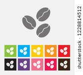 coffee beans icon   vector | Shutterstock .eps vector #1228814512