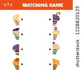 matching game. educational...   Shutterstock .eps vector #1228820125