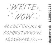 hand drawn font made by ink... | Shutterstock .eps vector #1228831255