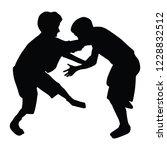 two boys fighting vector... | Shutterstock .eps vector #1228832512