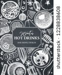 bar menu design. vector frame... | Shutterstock .eps vector #1228838608