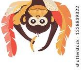 flat geometric monkey hanging...   Shutterstock .eps vector #1228839322