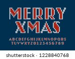 knitted font  new year 2019... | Shutterstock .eps vector #1228840768