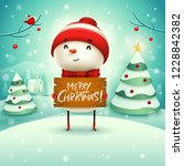 merry christmas  cheerful... | Shutterstock .eps vector #1228842382