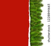 fir tree border with ripped... | Shutterstock .eps vector #1228844665