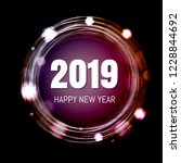 new year postcard with gradient ... | Shutterstock .eps vector #1228844692