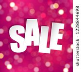 pink sale poster with gradient... | Shutterstock .eps vector #1228844698