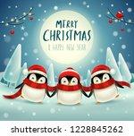 Cute Little Penguins Under The...