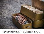 assault rifle cartridge box ... | Shutterstock . vector #1228845778