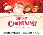 merry christmas  happy... | Shutterstock .eps vector #1228854772