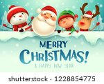 merry christmas  happy... | Shutterstock .eps vector #1228854775