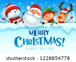 merry christmas  happy... | Shutterstock .eps vector #1228854778