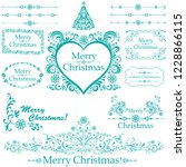 christmas decoration set   lots ... | Shutterstock . vector #1228866115