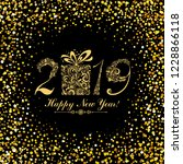 happy new year 2019  vintage... | Shutterstock . vector #1228866118
