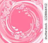 abstract pink bubbles... | Shutterstock . vector #1228866412