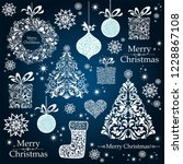 christmas decoration set   lots ... | Shutterstock . vector #1228867108