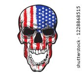 skull with american flag... | Shutterstock .eps vector #1228868515