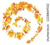 oak  maple  wild ash rowan... | Shutterstock .eps vector #1228869532