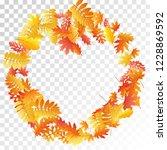 oak  maple  wild ash rowan... | Shutterstock .eps vector #1228869592