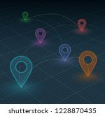 vector navigation concept.... | Shutterstock .eps vector #1228870435