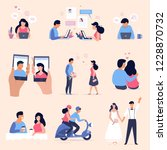 online dating concept... | Shutterstock .eps vector #1228870732