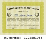 yellow sample diploma. artistry ... | Shutterstock .eps vector #1228881055