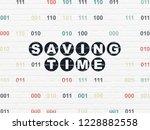 timeline concept  painted black ... | Shutterstock . vector #1228882558