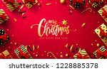 merry christmas and new years... | Shutterstock .eps vector #1228885378
