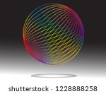 a colorful dotted sphere floats ... | Shutterstock .eps vector #1228888258