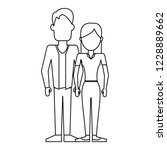 young couple avatar | Shutterstock .eps vector #1228889662