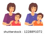a mother hugs her son by the... | Shutterstock .eps vector #1228891072