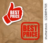 best price sign  | Shutterstock . vector #1228894705