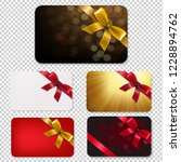 gift card with bows big set ... | Shutterstock . vector #1228894762