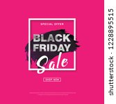 black friday sale banner with... | Shutterstock .eps vector #1228895515