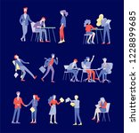 businessmen making handshake ... | Shutterstock .eps vector #1228899685