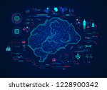 graphic of a brain in... | Shutterstock .eps vector #1228900342