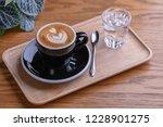 double espresso macchiato in... | Shutterstock . vector #1228901275