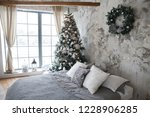 christmas  new year silver grey ... | Shutterstock . vector #1228906285