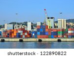 the port cargo and containers