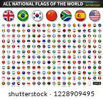 all national flags of the world ... | Shutterstock .eps vector #1228909495