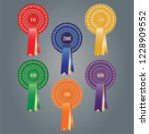 first to sixth place rosettes | Shutterstock .eps vector #1228909552