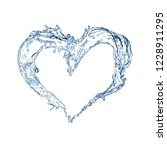 Heart From Water. Water Splash...