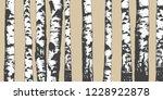 birch grove. vector background.... | Shutterstock .eps vector #1228922878