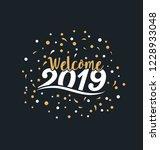 2019   typographic new year...   Shutterstock .eps vector #1228933048