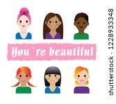 beautiful girl  vector image ... | Shutterstock .eps vector #1228933348