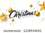 merry christmas illustration...   Shutterstock .eps vector #1228934032